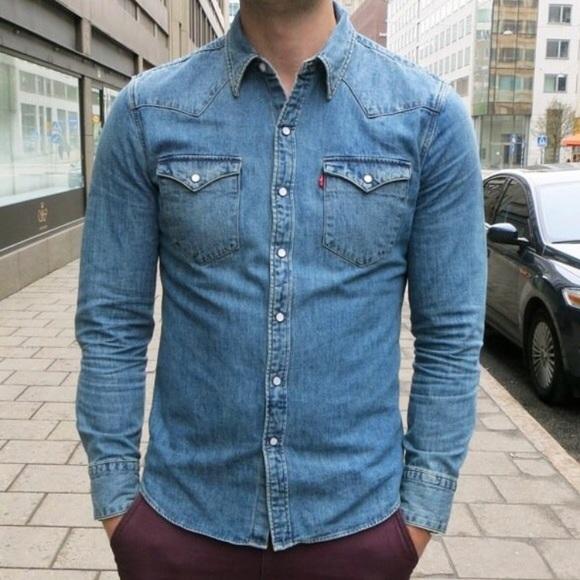 281f47fd9fe Levi s Other - Levi s Slim Fit Medium Wash Denim Shirt